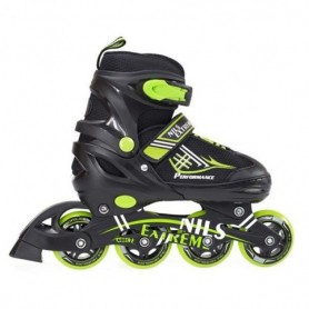 Two-in-one rollerblades Nils Extreme Black / Green NH7104 30-33