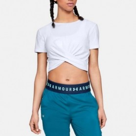 Under Armor Shirt Lightweight Lux Crop Tee W 1305484-100