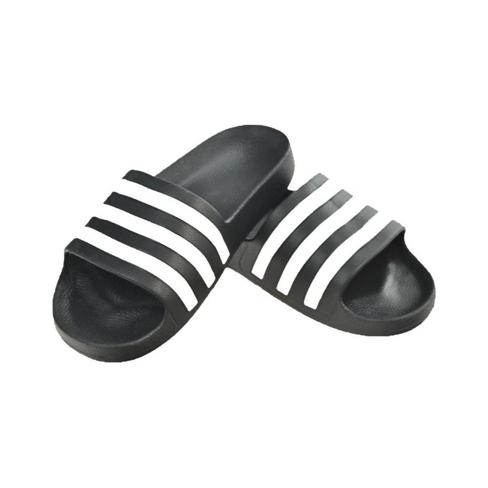 Details about Adidas Men Adilette Cloudfoam Slipper Training Shoes Black Slide Sandales AQ1701