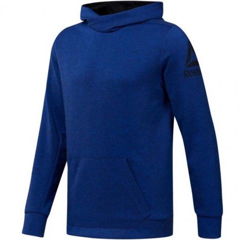 Reebok Workout Doubleknit Hoodie M DU2156 training shirt