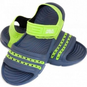 Sandals Aqua-speed Noli navy green Kids col.48
