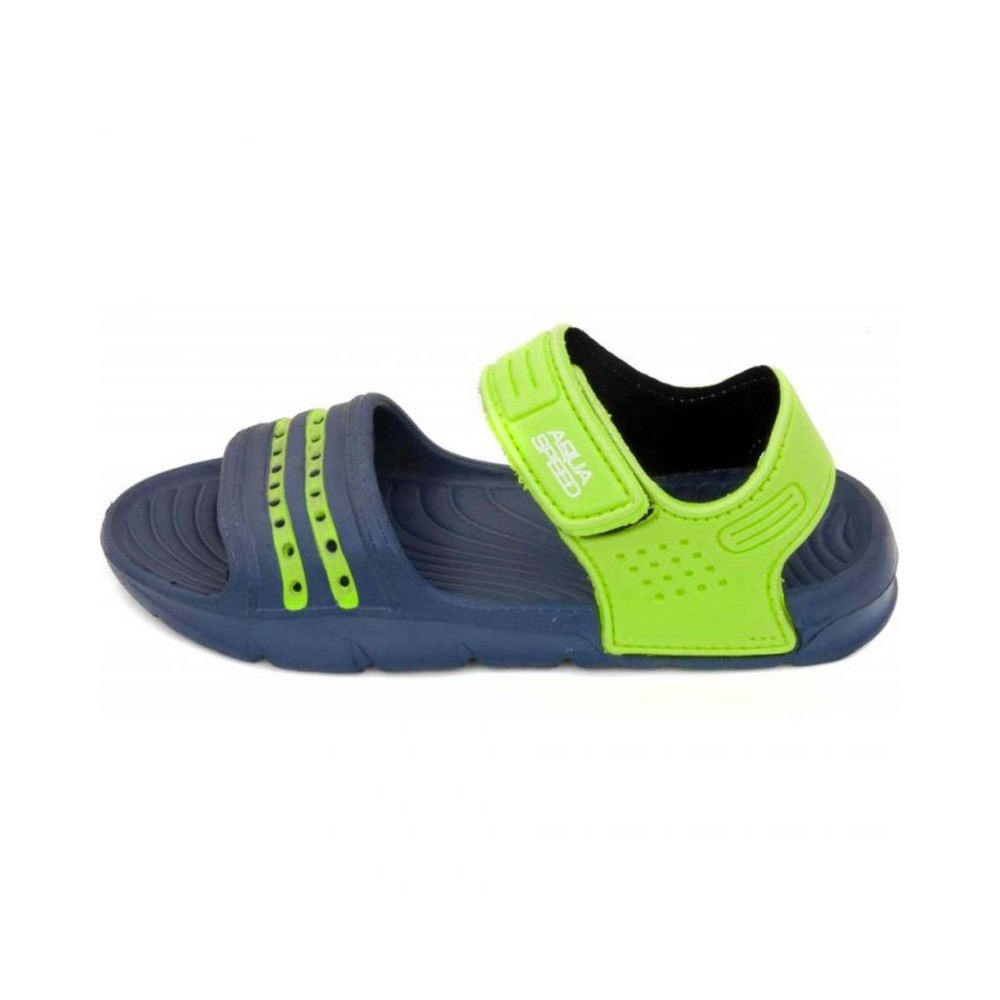 be5e2f34c8b71 Sandals Aqua-speed Noli navy green Kids col.48