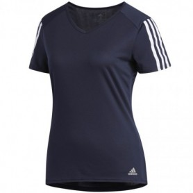 Adidas Run 3 Stripes Tee In DX2019