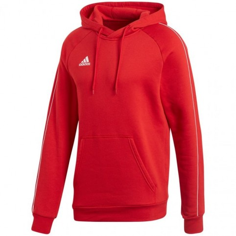 Adidas CORE 18 HOODY M CV3337 sweatshirt. Red