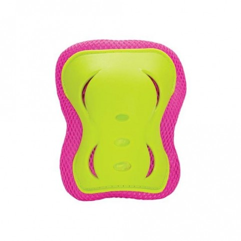A set of Nils Extreme H320 protectors pink-lime size L
