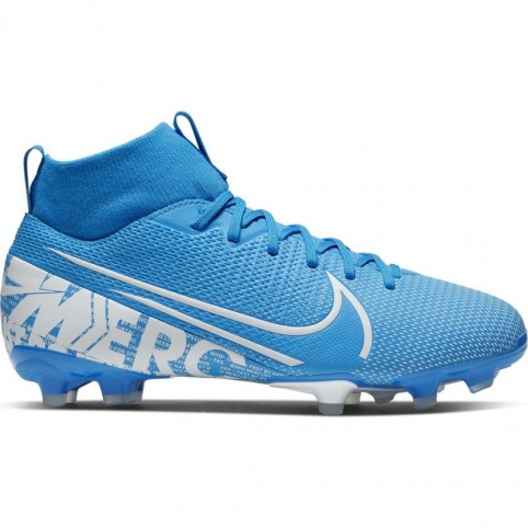 Nike Mercurial Superfly 7 Academy FG / MG JR AT8120 414 blue football shoes