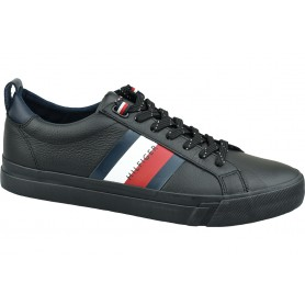 Tommy Hilfiger Flag Detail Leather Sneaker FM0FM02576-BDS