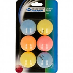 Table tennis balls Donic Color Popps 6 pcs