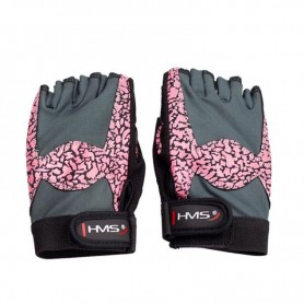 Gloves for the gym Pink / Gray W HMS RST03 r. L.