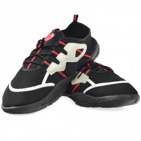Beach shoes Aqua-speed black gray-red 19A