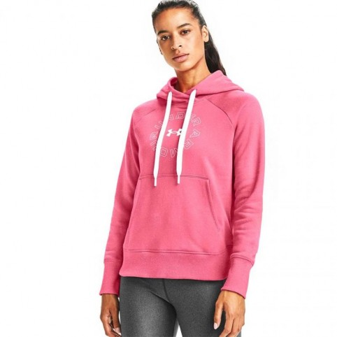 Under Armor Rival Fleece Metallic Hoodie W 1356 323 668 sweatshirt